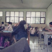 Photo taken at SMAN 1 Bekasi by Delaneira R. on 5/13/2014