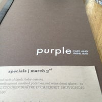 Photo taken at Purple Cafe & Wine Bar by My S. on 3/4/2013