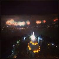 Photo taken at Notre Dame du Liban Harissa by Mehmet H. G. on 6/24/2013
