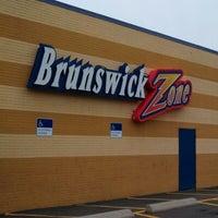 Photo taken at Brunswick Zone Lowell Lanes by Jason F. on 10/7/2012