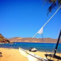 Photo taken at Panormos Beach by Reemo A. on 6/10/2013
