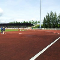 Photo taken at Stade d'athlétisme Jacky Boxberger by phil c. on 6/29/2013
