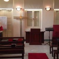 Photo taken at Telok Ayer Chinese Methodist Church by Juits H. on 10/25/2014