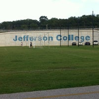 Photo taken at Jefferson College Track by Gloria P. on 10/4/2013
