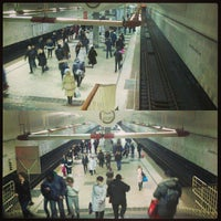 Photo taken at metro Bratislavskaya by Dimitri G. A. on 1/19/2013