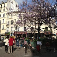 Photo taken at Place de la Contrescarpe by Anna P. on 5/12/2013