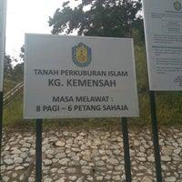 Photo taken at Tanah Perkuburan Islam Kampung Kemensah by Syafiq S. on 1/4/2017