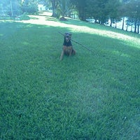 Photo taken at manjuck manor dog park by QueenMaureen on 10/3/2014