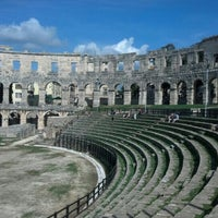 Photo taken at Arena Pula | The Pula Amphitheater by anthony d. on 10/4/2012