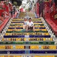 Photo taken at Escadaria de Selarón by Amanda W. on 9/14/2012