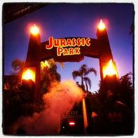 Photo taken at Jurassic Park: The Ride by Kanaya M. on 9/29/2012