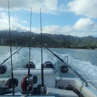 Photo taken at Maunalua Bay Boat Ramp by Loren K. on 4/21/2013