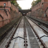 Photo taken at Buda Castle Hill Funicular by Mikhail F. on 9/16/2014