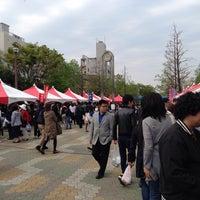 Photo taken at Oyokogawa-shinsui-koen Park by tagujun on 4/19/2014