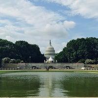 Photo taken at Senate Reflecting Pool by Melissa C. on 8/5/2017