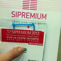 Photo taken at 서울국제판촉물, 선물 및 홈웨어전 by Anna L. on 3/8/2013