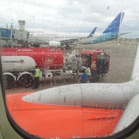 Photo taken at Boarding Gate Minangkabau Int. Airport by Fernando Sml T. on 1/1/2013