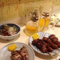 Photo taken at やきとん まこちゃん 別館 by akiko n. on 10/3/2014