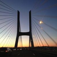 Photo taken at Ponte Vasco da Gama by Tania K. on 1/5/2013