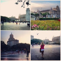 Photo taken at Plaça Catalunya by Marina Z. on 7/21/2013