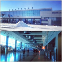 Photo taken at Omsk Central International Airport (OMS) by Marina Z. on 3/10/2013