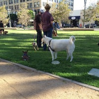Photo taken at LAPD Lawn Dog Park by Adam P. on 8/9/2015