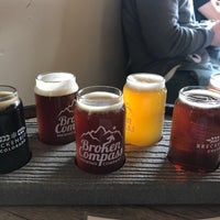 Photo taken at Broken Compass Brewing by Aaron H. on 3/30/2018