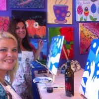 Photo taken at Paint by the glass by Erin D. on 8/9/2013