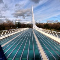 Photo taken at Sundial Bridge by Megan W. on 12/26/2012