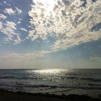 Photo taken at Leonardo Beach by Han L. on 10/6/2012