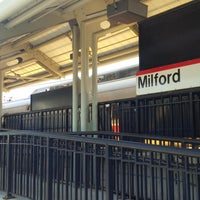 Photo taken at Metro North - Milford Train Station by Heather F. on 4/20/2014