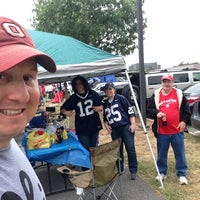 Photo taken at Rutgers Stadium Silver Lot by Jeff B. on 9/13/2014