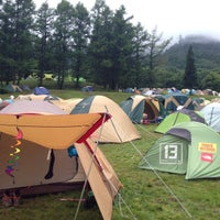 Photo taken at Fuji Rock Festival '13 Camp Site by bianesso on 7/28/2013