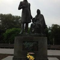 Photo taken at Памятник «Пушкин и крестьянка» by Liubov P. on 6/29/2013