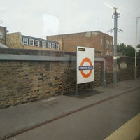 Photo taken at London Fields Overground Station (LOF) by Gordon C. on 8/18/2016