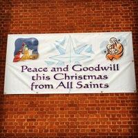 Photo taken at All Saints Church by Gordon C. on 12/25/2015