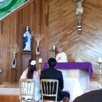 Photo taken at Parroquia Santa Beatriz de Silva by Delfina D. on 3/22/2014