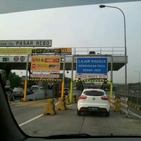 Photo taken at Gerbang Tol Pasar Rebo by Agus A. on 11/5/2012