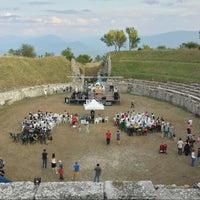 Photo taken at Alba Fucens - Anfiteatro Romano by Luigi F. on 8/11/2013