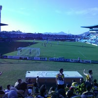 Photo taken at Estádio Aderbal Ramos da Silva (Ressacada) by André M. on 4/28/2013