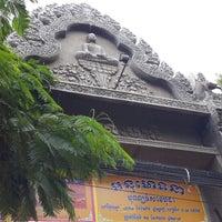 Photo taken at Wat Moha Montrei by JiNa K. on 9/8/2013