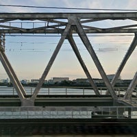 Photo taken at JR 下神崎川橋梁 by Izumi T. on 3/2/2014