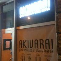 Photo taken at Akivarai (Restoranas ir Pub'as) by Jaro Š. on 11/13/2012