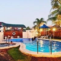 Photo taken at P&M Final Option Beach Resort & German Bistro by Queenie C. on 12/5/2016