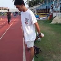 Photo taken at Stadion Pahoman by Ahmad I. on 8/1/2016