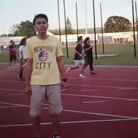 Photo taken at Stadion Pahoman by Ahmad I. on 7/26/2016