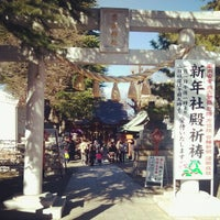 Photo taken at 草加神社 by Bob on 1/3/2013