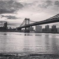 Photo taken at Manhattan Bridge by Gianluca C. on 1/2/2013