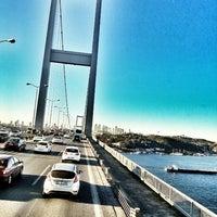 Photo taken at Bosphorus Bridge by Al'mithara M. on 11/8/2013