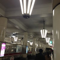 Photo taken at Midosuji Line Tennoji Station (M23) by kabutoyama309 on 12/11/2012